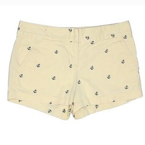 J.Crew Yellow Anchor Shorts